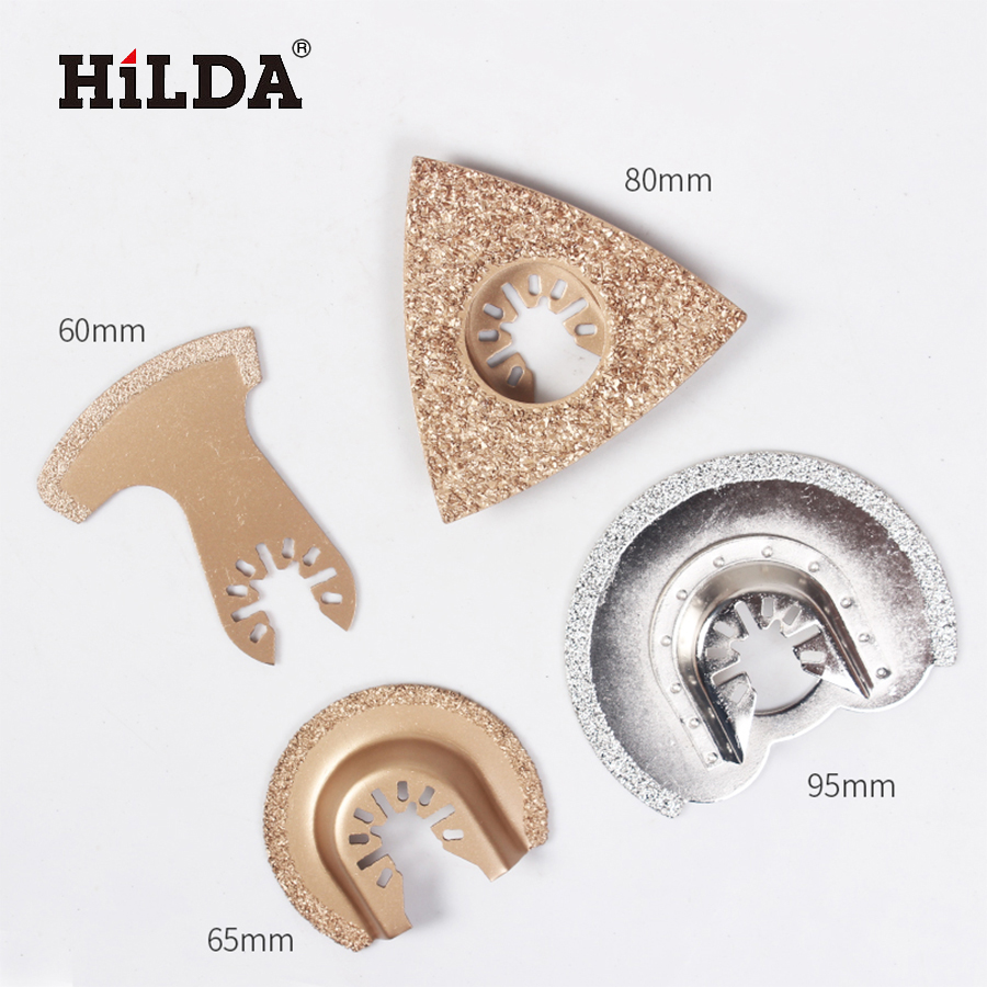 HILDA 4pcs Diamond Swing Blade Quick Release Oscillating Tool Saw Blades Accessories Fit for for Multimaster Power Tools 12pcs 10 15 18 24 teeth scroll saw blade 5 127mm pinned saw blades set for woodworking power tools