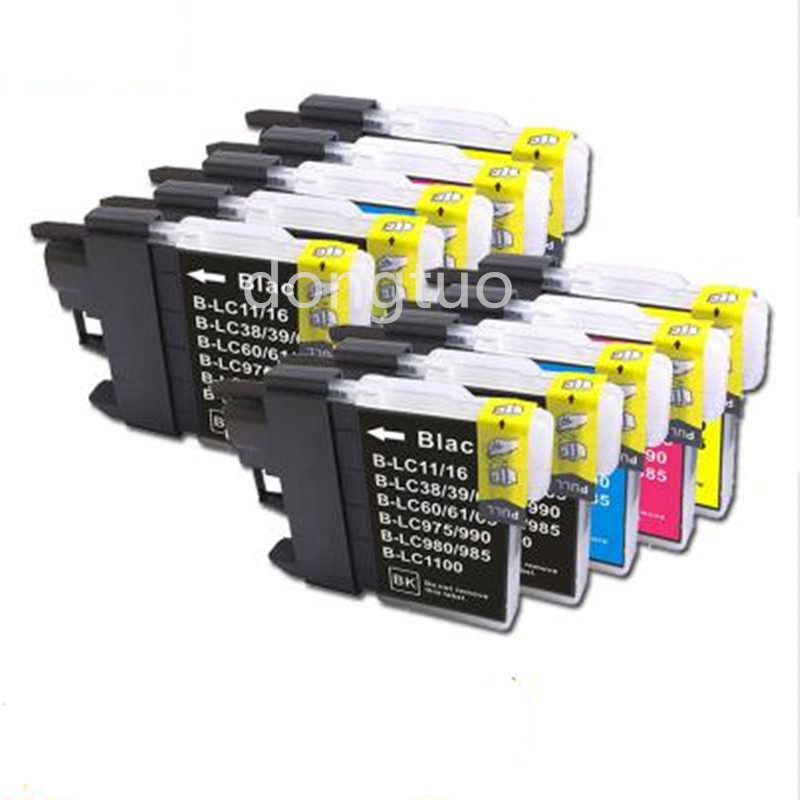 2 Set +2BK Compatible Ink Cartridge for LC985 LC980 For Brother DCP J125 J315W J140W J515W / MFC J220 J265W J410 J415W