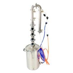 Caldera Moonshine de 50 L, columna de acero inoxidable de 3 pulgadas para destilación, placas de burbujas de cobre, acero sanitario 304, Moonshine