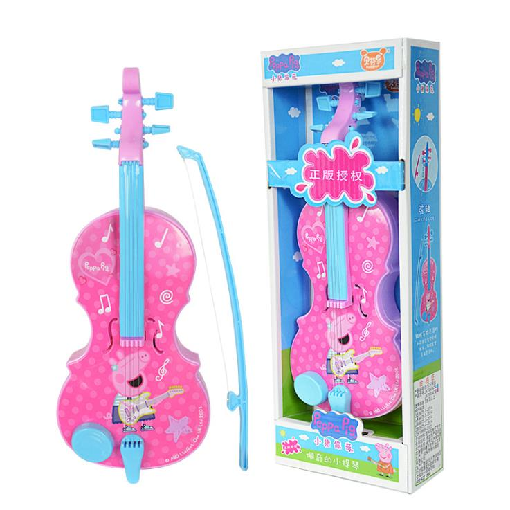 Hot sale Genuine Peppa Pig 32cm/13 Children Musical Instruments Toy pink blue Violin Instruments Education Birthday Gifts 99047