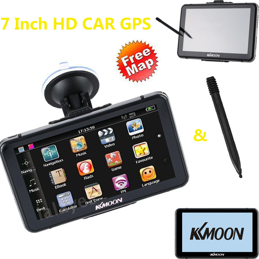 Kkmoon Video-Player Gps-Navigator Car Gps Touch-Screen 7inch MP3 HD 4GB-ROM Vehicle 128MB title=