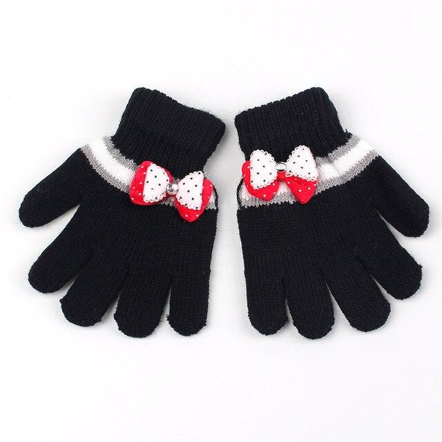 Online Shop Bogen Mädchen Handschuhe Baumwolle Häkeln Kinder