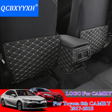 3pcs PU Car Interior Seat Protector Side Edge Protection Pad For Toyota Camry 2017 2018 Car Stickers Anti-kick Mat Car Styling