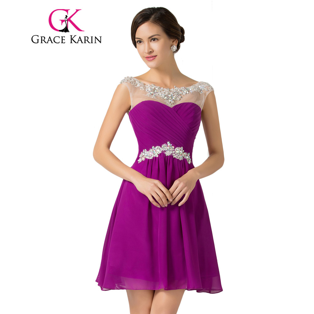 Grace Karin Short Prom Dresses 2018 Knee Length Blue Violet Purple ...