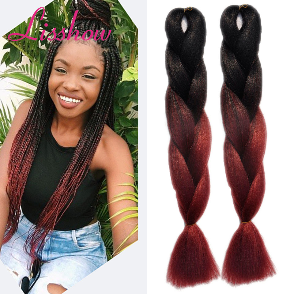 wholesale Burgundy Ombre African Box Hair Braiding