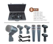 5-piece Drum Mic Set musical instrument jazz drum microphone TK-5B
