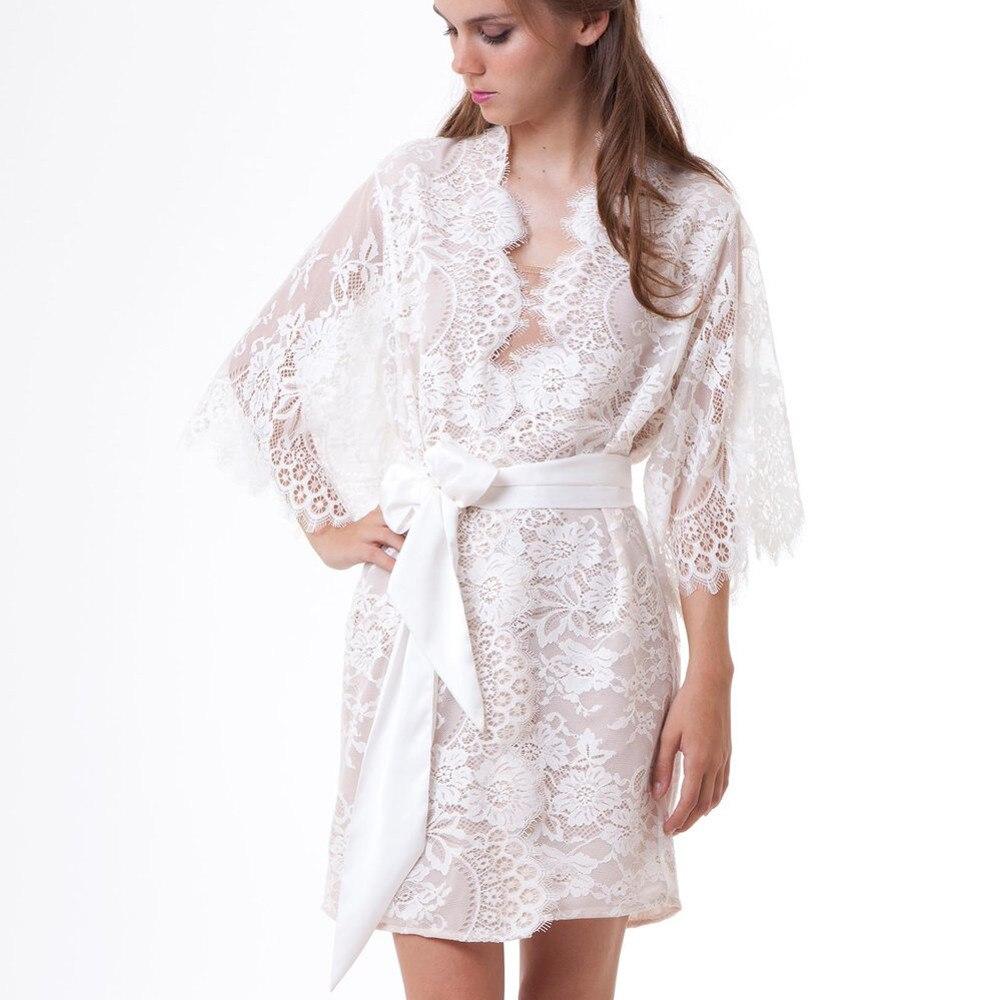 Jaycosin   pajamas   women's fashion sexy mesh perspective lace long-sleeved sexy bathrobe temptation   pajamas   sexy lace   pajamas     set