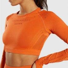 Eyelet Flawless Knit Seamless Yoga Tops Long Sleeve Women Fitness Gym Crop Athletic Shirt Sportswear Active Wear