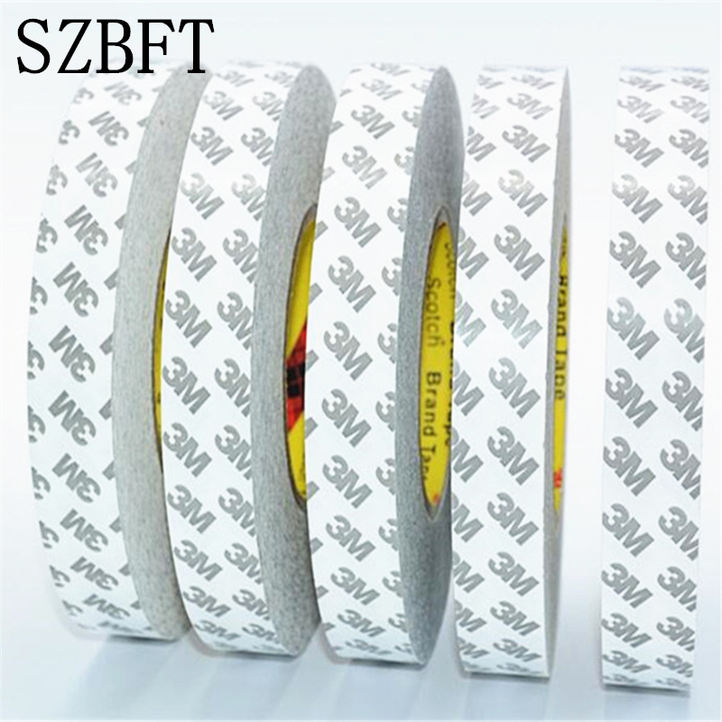 50M/roll (1mm~25mm) Original 3M 9080 High Adhesive Tape High Temperature Resist for LED Light Strip Phone LCD Touch Screen Bezel