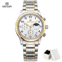 Новая Версия Megir 5007 Мода Часы Человек Роскошные Водонепроницаемые Часы Мужчины Хронограф Спортивные Наручные Часы Мужчины Relogios Masculinos