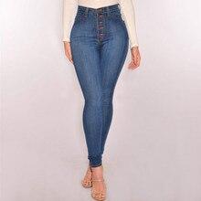 76169fc28704b5 England Stil Dünne Hohe Taille Skinny Jeans Frauen Push Up Sexy taste Plus  Größe Vintage Bleistift Hosen Mujer Baumwolle Denim 2.