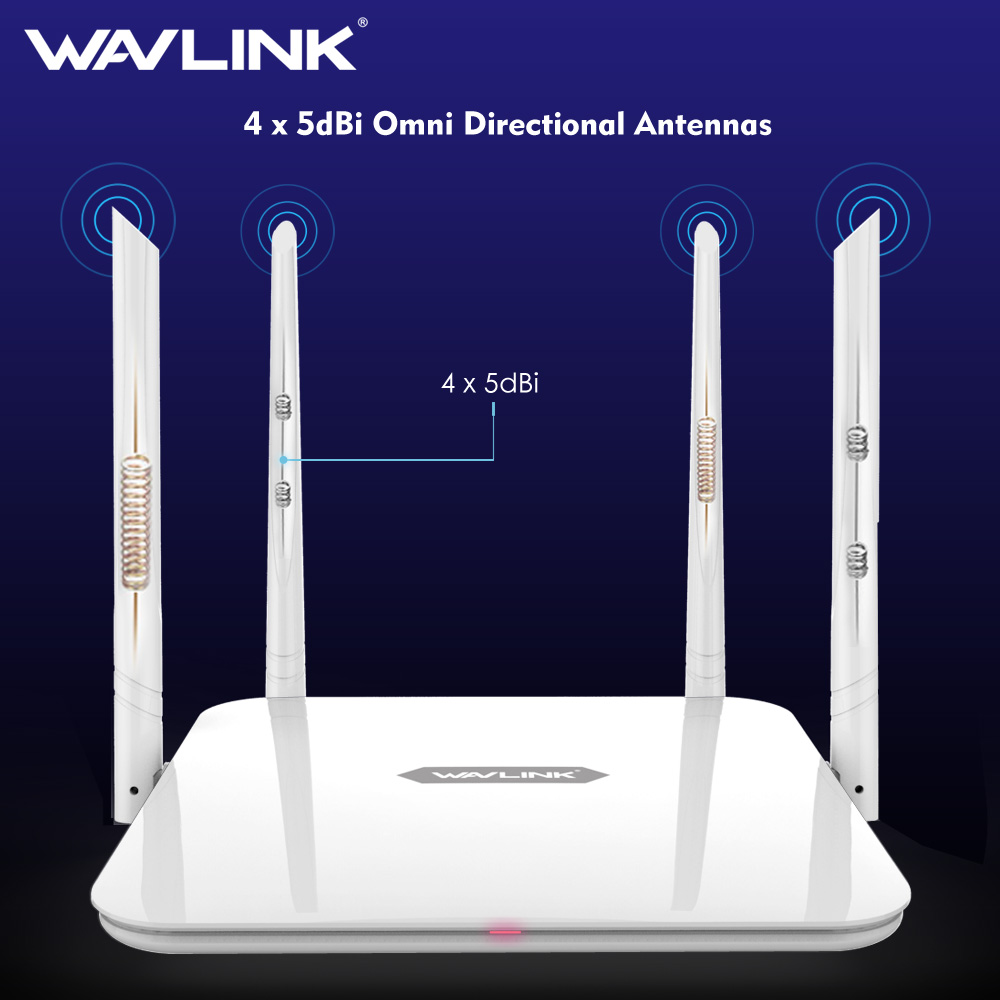 Wavlink Wireless wifi Router /repeater 1200Mbps Dual Band router 5ghz AC1200 High Power Amplifier 2.4Ghz long range extender-in Wireless Routers from Computer & Office