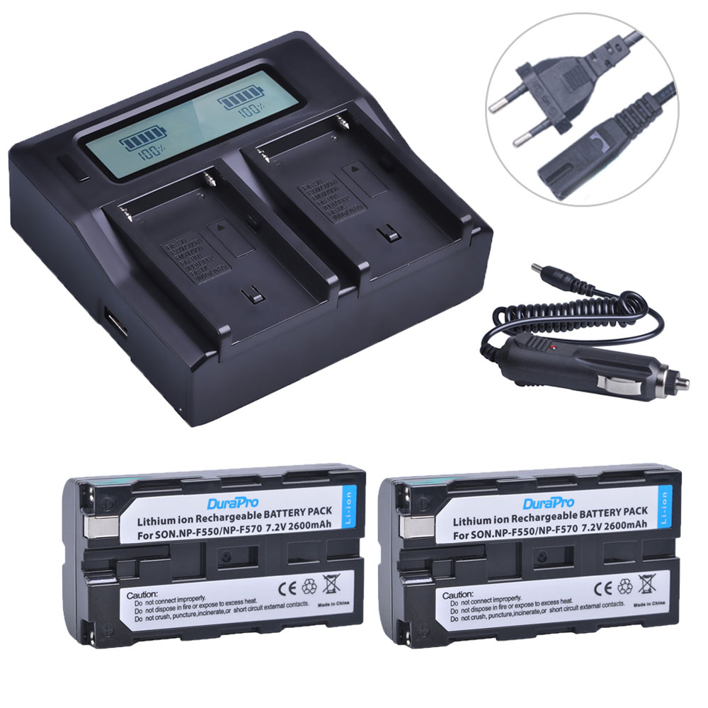 2x NP-F550 NP-F570 NP F550 F570 Rechargeable Li-ion Batterie + LCD Chargeur Rapide pour Sony CCD-SC55 CCD-TRV81 DCR-TRV210 MVC-FD812x NP-F550 NP-F570 NP F550 F570 Rechargeable Li-ion Batterie + LCD Chargeur Rapide pour Sony CCD-SC55 CCD-TRV81 DCR-TRV210 MVC-FD81