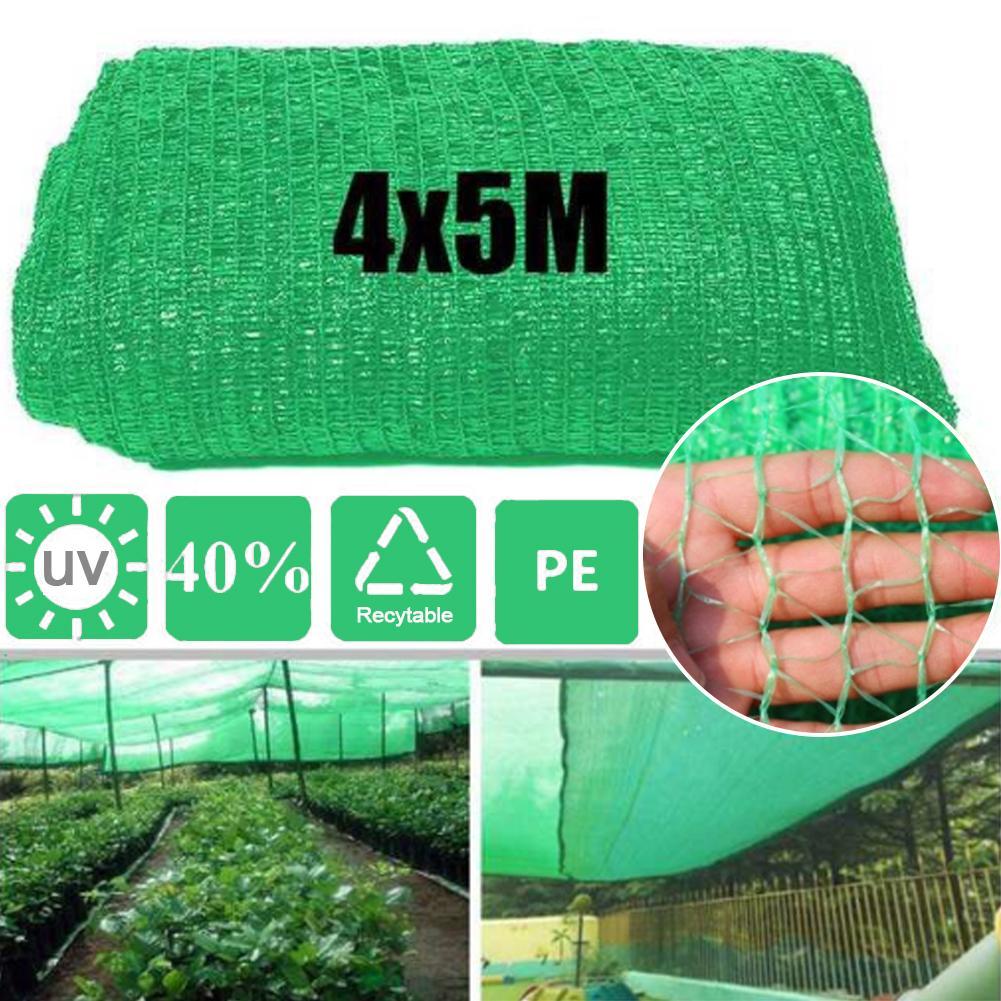 4*5M Sunblock Shade Cloth Greenhouse Plant Sunshade Cover Barn Garden Patio Orchard Sunshade Net 40 Shading Rate