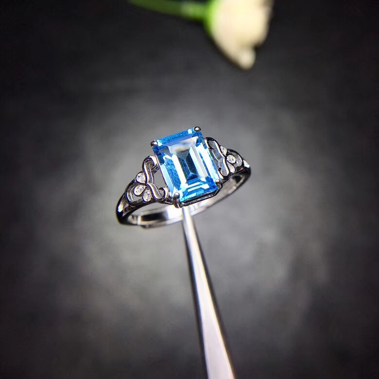 Natural Topaz Ring 925 Silver Sapphire Blue Sapphire new product updated every day to focus on shopkeepers.Natural Topaz Ring 925 Silver Sapphire Blue Sapphire new product updated every day to focus on shopkeepers.