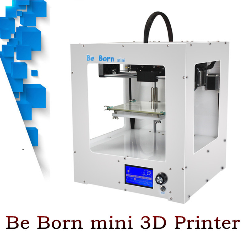 2017 Newest Design 3d Printer White Box Frame Large Printing Size High Quality Precision 3D Metal Printer Free Shipping original anycubic 3d pinter kit kossel pulley heat power big size 3d printing metal printer fast shipping from moscow