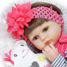 Bebe Силикона возрождается realista 42 см Reborn Baby Doll дети Playmate Подарок Для Девочек новый год игрушки мягкие тела boneca reborn