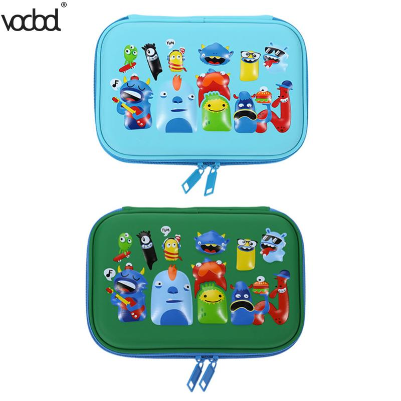 VODOOL Pencil Case Student EVA Cartoon Pencilcase Stationery School Supplies Pencils Box Pouch Cute Pnecil Bag for Girls Boys new leather pencil case bag for school boys girls vintage pencil case box stationery products supplies as gift for student