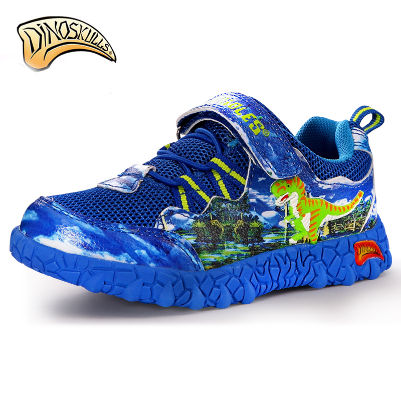 Dinoskulls Kids Breathable Sneakers Brand Kids Shoes Boys Sport Sneakers 2018 Mesh Children 3D Dinosaurs Sneakers size 27-34