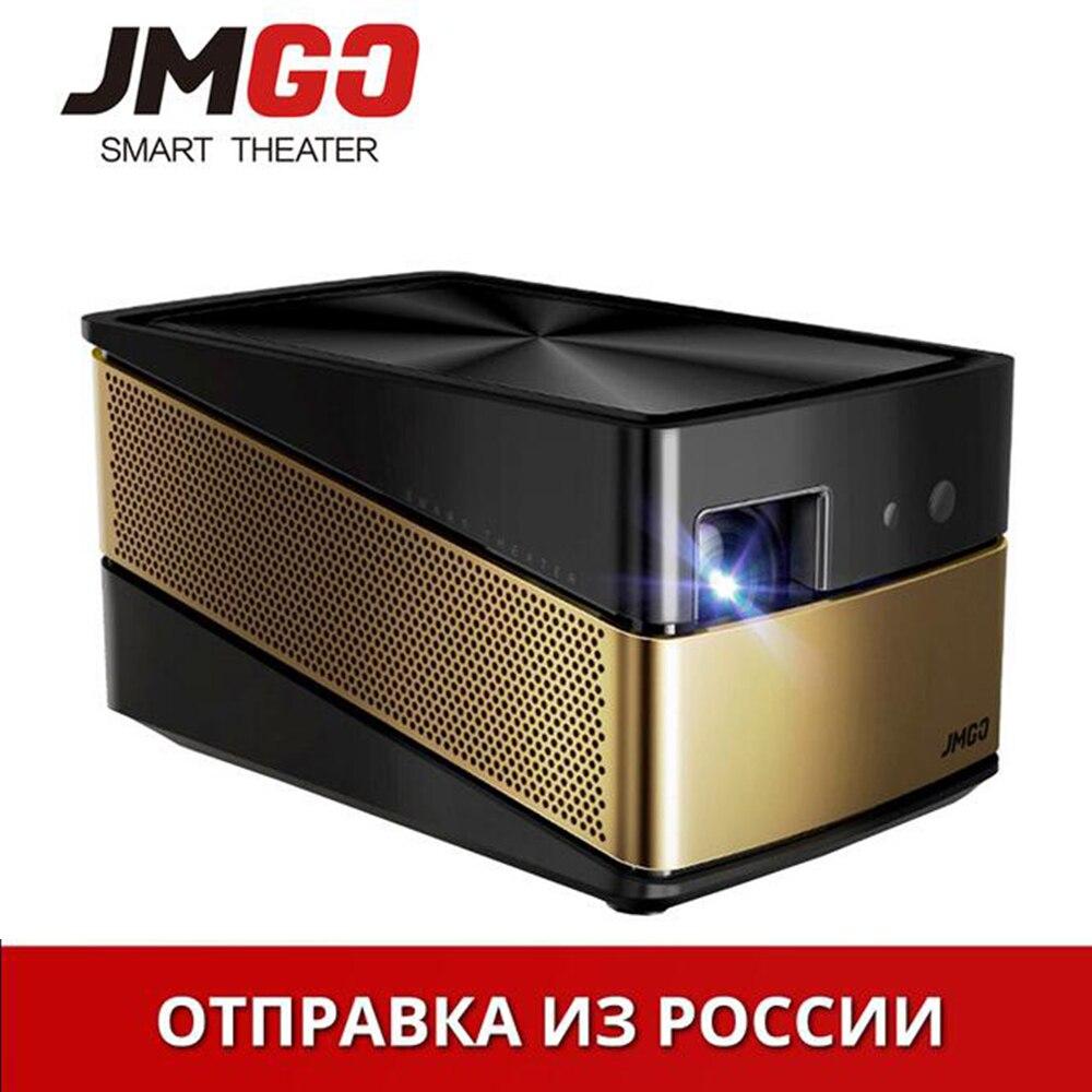 Upgrade JmGo V8 new haushalt miniatur intelligente projektor Bluetooth Wifi 4 Karat DLP high-definition heimkino-projektor