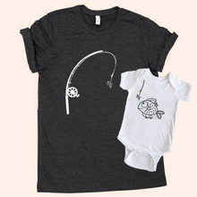 Father Son Matching Shirts Set Printed Dad and Son Fish Graphic Tees  Boho Baby Clothes Daddy and Me Fishing Gift все цены