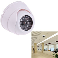 Outdoor CCTV Fake IP Camera Dummy Surveillance Security Dome Mini Camera w/ 30 Flashing LED Light FC