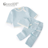 Gooulfi baby girl knitted sweater winter clothes 4pcs pullover top knit newborn with sock infant baby girls boys winter clothes