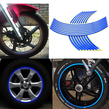 motorcycle motorbike accessories Wheel Stickers Reflective Rim Stripe Tape Bike Motorcycle Car universal for triumph benelli KTM