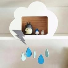 Облака украшения для kidsroom милый обычай деревянный дом Облачных капель меблировки статей кулон получать коробку детей