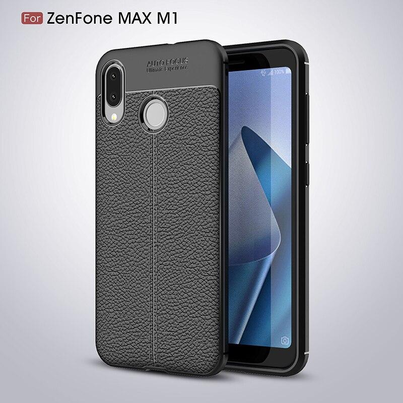 Pour ASUS ZenFone Max M1 ZB555KL Ultra-Mince Souple TPU Conception Cas Pour ASUS ZenFone Max M1 ZB555KL ZB555 KL ZB 555KL X00PD Cas
