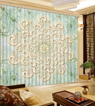 modern living room ccurtains brand Scenery Beauty Digital Photo Printing Blackout 3D Curtains for Living Room Bedding Room Hotel