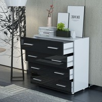 Fashion Dresser Cabinet Universal Bedroom Clothes Cupboard Modern Kitchen Sideboard Four Big Drawer Wooden Cabinet