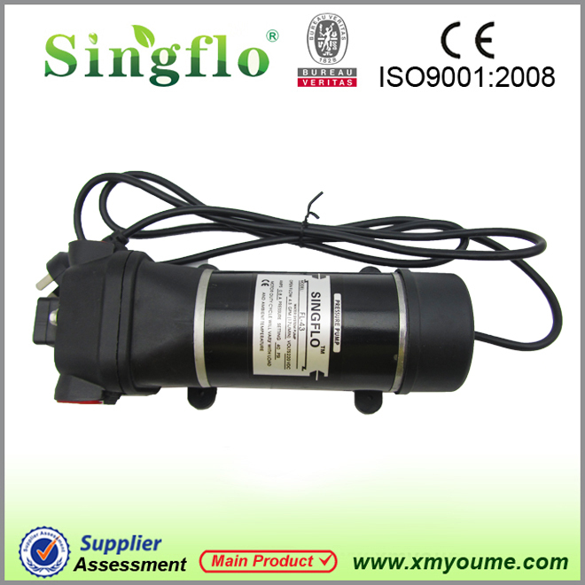High pressure water pump Singflo FL 43 220V AC 17L min high flow RV