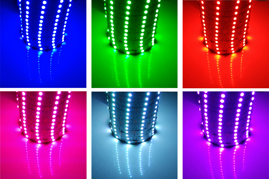 RiRi won SMD RGB LED Strip Light 5050 2835 10M 5M LED Light rgb Leds tape diode ribbon Flexible Controller DC 12V Adapter set