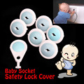 6PCS Mommy's Helper Outlet Plugs Baby Safety Socket Protection Electric Shock Hole kids Lock Cover