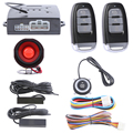 Hopping code PKE car alarm system remote engine start, passive keyless entry kit push button start stop  auto lock unlock