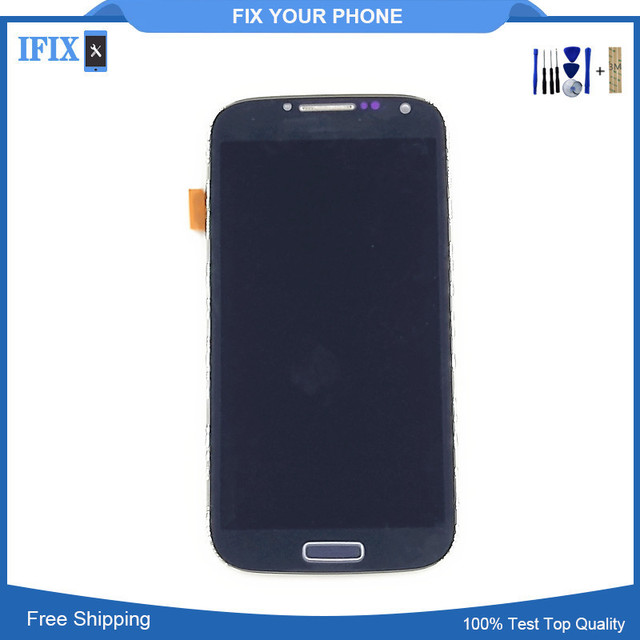 Compatible For Samsung Galaxy S4 LCD GT-I9505 I9500 i337 i545 LCD touch screen Digitizer with frame Free Shipping With Tools