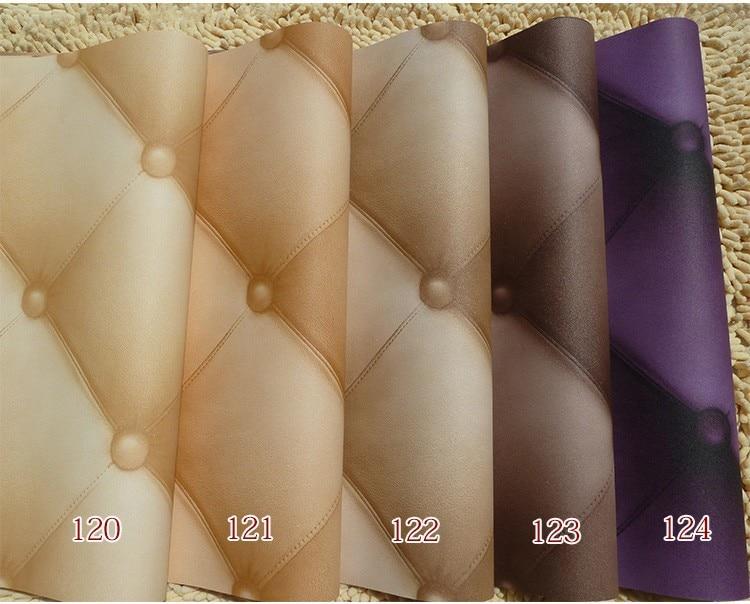 ФОТО Simple three-dimensional diamond lattice pattern leather PVC soft bag living room TV background wallpaper