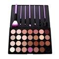 2016 Nuevos Kits de Cosméticos de Maquillaje 28 Colores Paleta de Sombra de ojos Color de Tierra + 7 UNIDS Pinceles de Maquillaje # BSEL