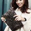 Hot Women Handbag purses Fashion Vintage Luxury Full Paillette Day Clutch Bling Sequins Evening Party Bag Leopard Lining Bag