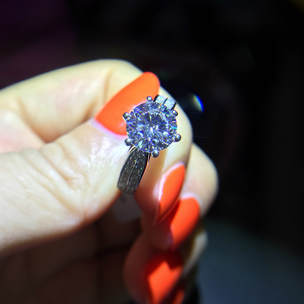 Tabe penge fremme 100% 925 sterling sølv ringe smykker luksus 8mm 2 - Mode smykker - Foto 2