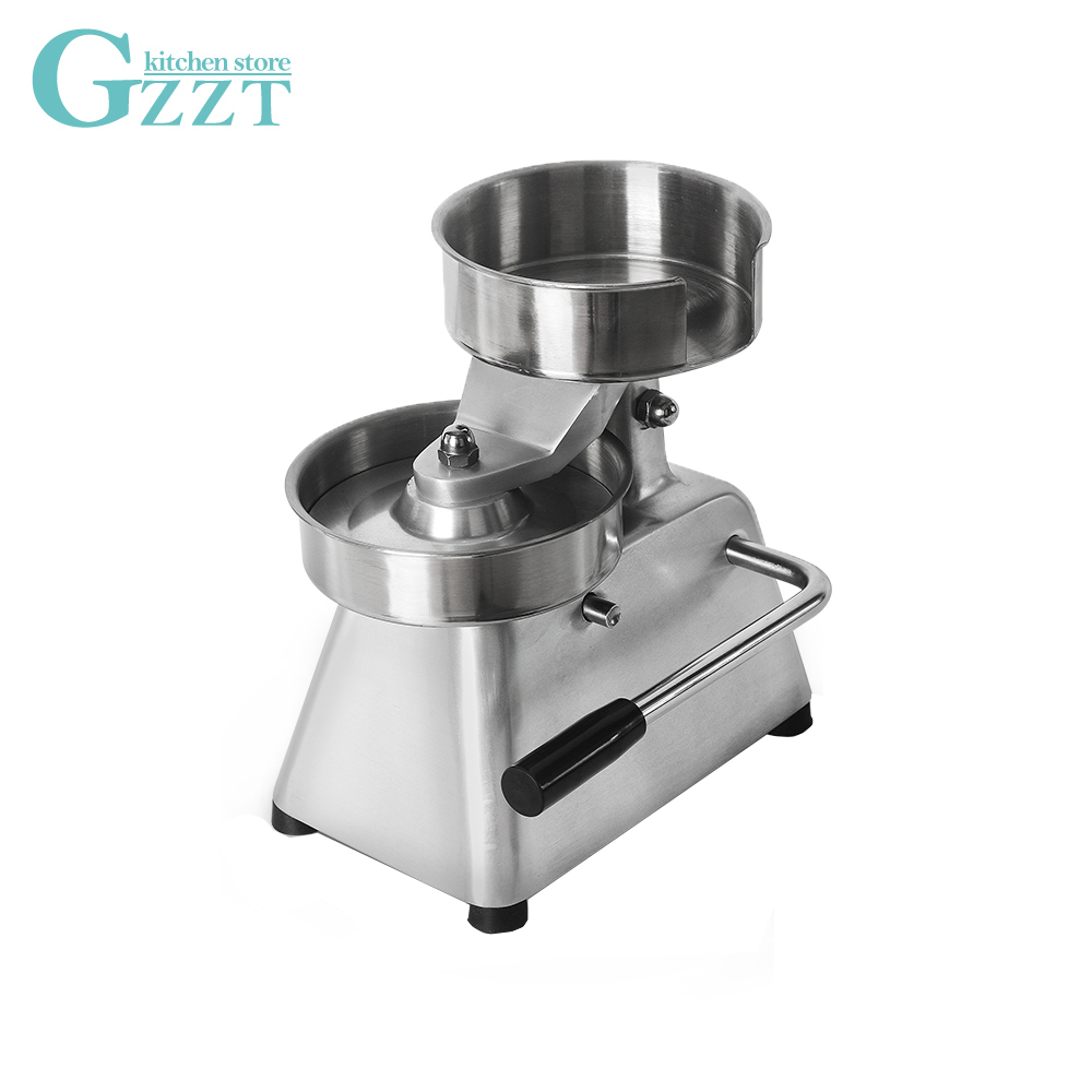 GZZT Manual Hamburger Press Forming Machine 150mm IT 150 Patty Maker With 500pcs Burger Paper Round