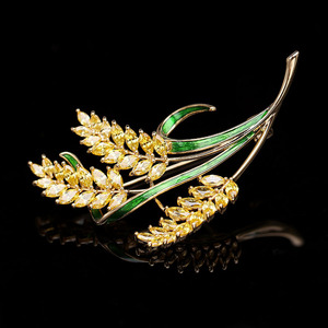 Image 5 - luxury jewelry accessory Korean jewelry colorful cubic zirconia tree branch leaves brooches pin fashion lady brooch HR03958