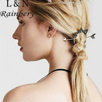 Rainbery 2016 Vintage Gold Silver Hair Sticks Arrow Moon Stars Bob Hairpin Combs Hairwear Women Fashion Hair Accessories Wedding