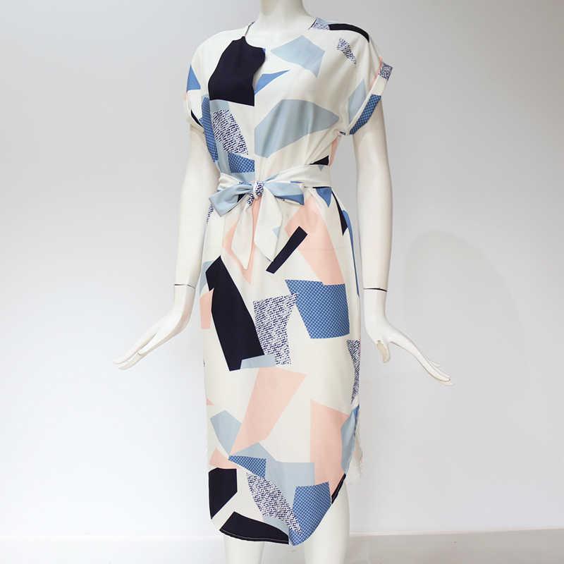 Летнее женское пляжное платье с геометрическим принтом туника с коротким рукавом Бандажное облегающее платье сексуальные миди вечерние платья женские vestidos mujer