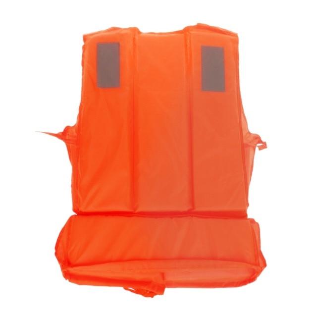 Nueva naranja adultos espuma flotación natación salvavidas Chaleco con silbato