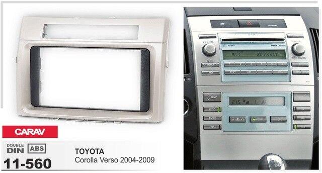 Cadre + android 6.0 lecteur dvd de voiture à écran tactile pour TOYOTA COROLLA VERSO 2004-2009 4g lite headunits radio gps navi magnétophone
