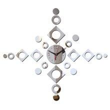 Зеркальные часы diy3d в современном дизайне, настенные часы с наклейками, украшения дома, для гостиной, 2019
