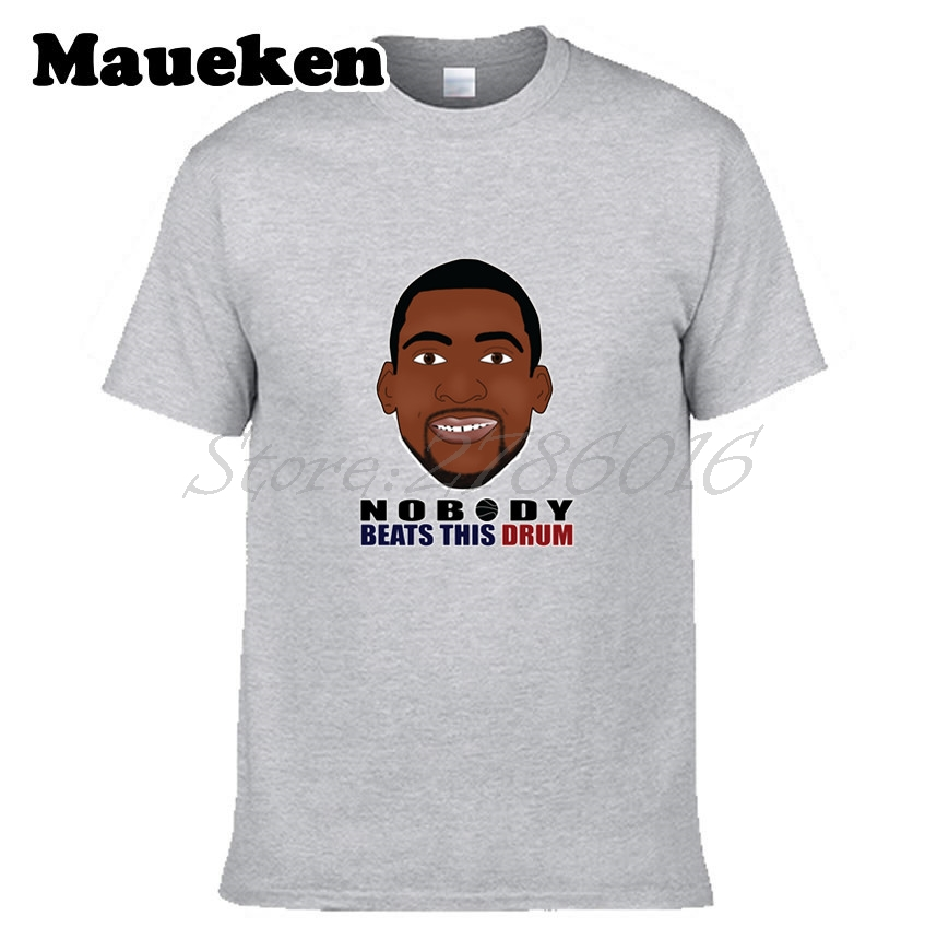 Men Detroit #0 Andre Drummond T-shirt Tees Short Sleeve Pistons T SHIRT Men's <font><b>NOBODY</b></font> <font><b>BEATS</b></font> THIS DRUM W1123006