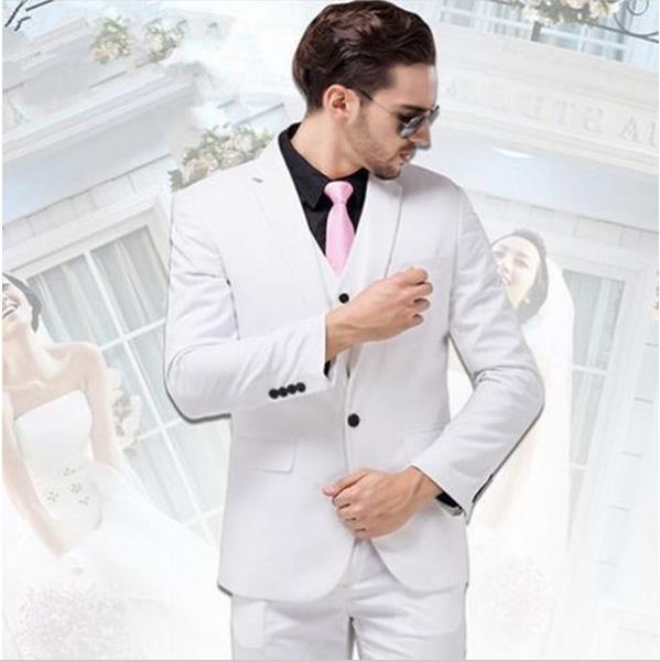 mens white wedding suit tuxedo slim groomsuits western wedding ...